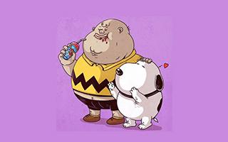 当知名经典动漫人物变成胖子 你的童年还回得去吗?