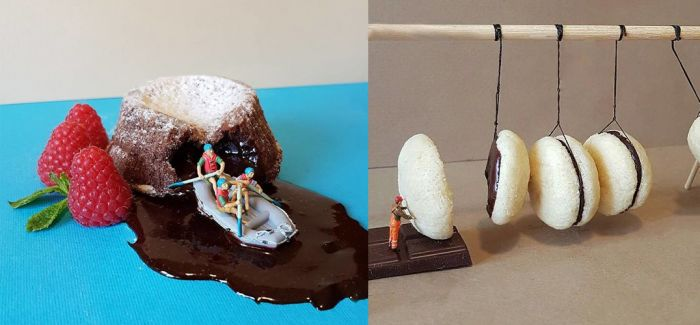 意大利糕点师用甜品打造微观世界