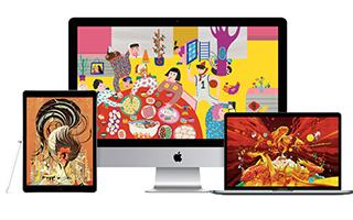 2017苹果公司新年壁纸 春节传统年画壁纸