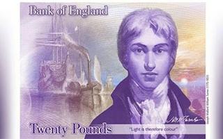 英镑首次选用艺术家作肖像 为什么是透纳?