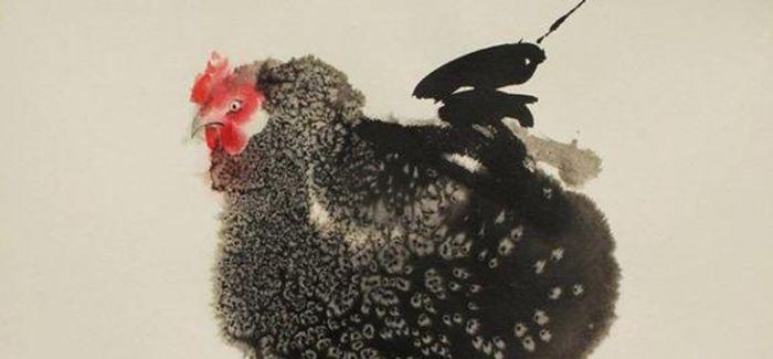 画完猫再画鸡:Endre Penovác的水墨鸡画