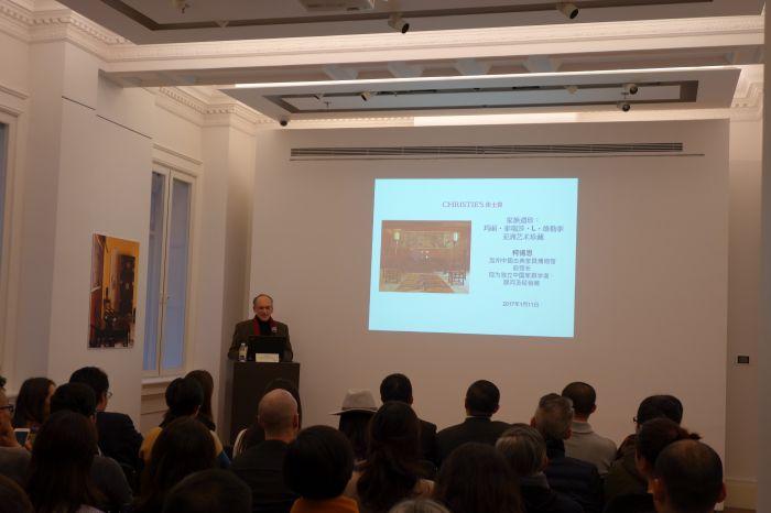 柯惕思师长教师正在佳士得上海讲座现场