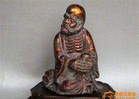清代达摩铜像