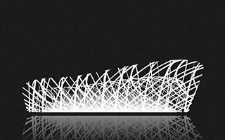 意大利艺术家用黑白线条描绘12座全球著名建筑