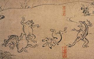 漫画鼻祖:《鸟兽人物戏画》