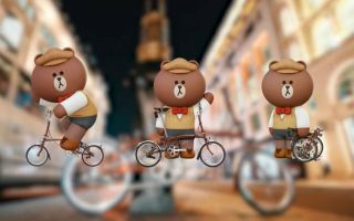 LINE FRIENDS开始卖折叠车了 配上布朗熊 萌爆了!