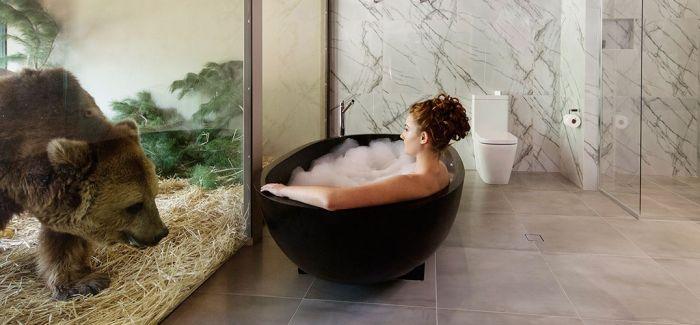 这是家每天都有野兽来看你洗澡睡觉的酒店