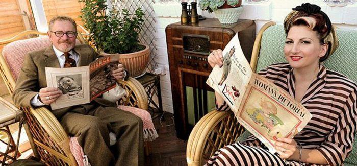 回到过去!英国夫妇按照40年代风格生活