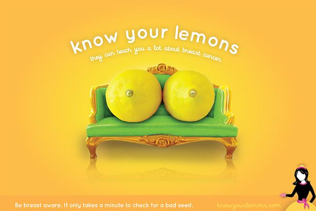 你的柠檬a柠檬?水果痔疮漫画的世界宣导机构乳癌海报动图图片
