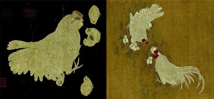 台北故宫博物院举办画鸡名品特展 宋人母鸡图亮相