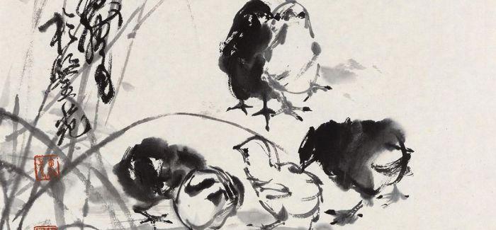 画驴大师黄胄的鸡