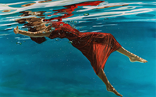水之灵 超写实的油画