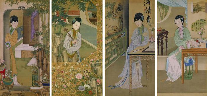 """故宫博物院馆藏的""""十二美人图"""""""