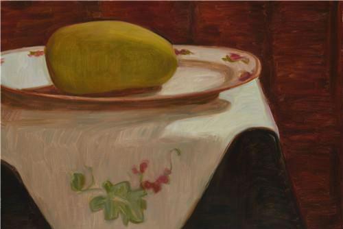作者:王音 作品名称:《芒果No.4》  尺寸:60×80cm 材质:布面油画