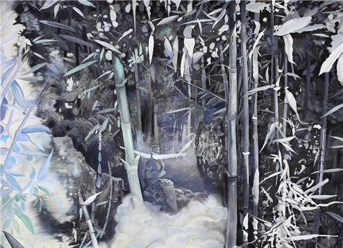 作者:熊宇 作品名称:《谛听生命》 尺寸:150×120cm 材质:布上油画