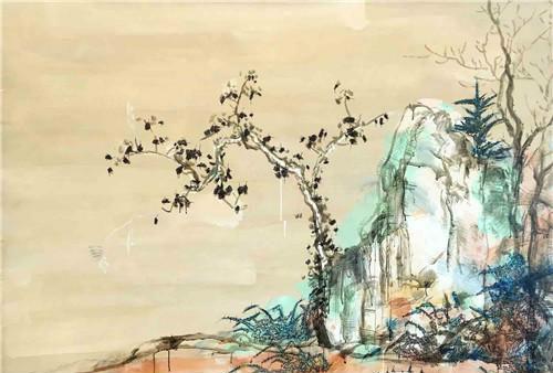 作者:叶永青 作品名称:《半边孟頫》 尺寸:150×200cm 材质:布面丙烯