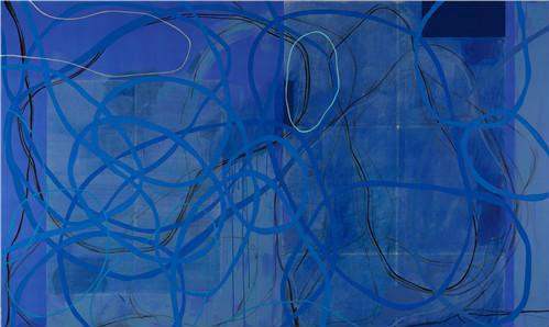 作者:周力 作品名称:《蓝色恋人》 尺寸:300cm×200cm 材质:综合材料