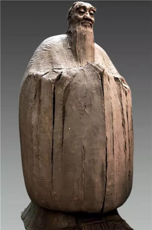 作者:吴为山 作品名称:《孔子问道于老子》 尺寸:高2.8米 材质:青铜雕塑