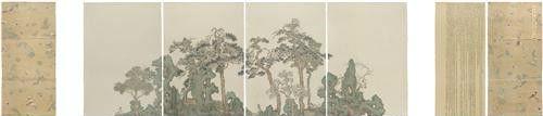 作者:彭薇 作品名称:《要去的地方》 尺寸:560×145cm 材质:宣纸水墨平面绘画