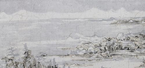 作者:王天德 作品名称:《富春积雪图》局部 尺寸:1200×35cm 材质:卷轴