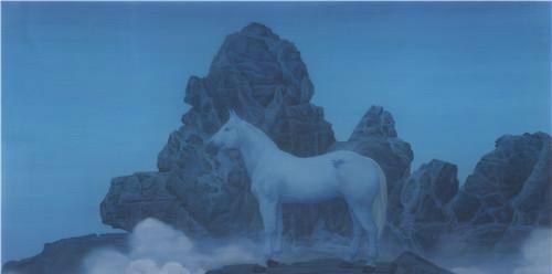 作者:徐累 作品名称:《午梦千山》 尺寸:154×270cm 材质:绢本