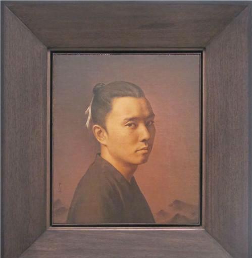 作者:彭斯 作品名称:《山水少年》 尺寸:40×34cm 材质:布面油画