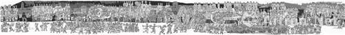 作者:杨晓阳 作品名称:《社火》 尺寸:3150cm×360cm 材质:中国画