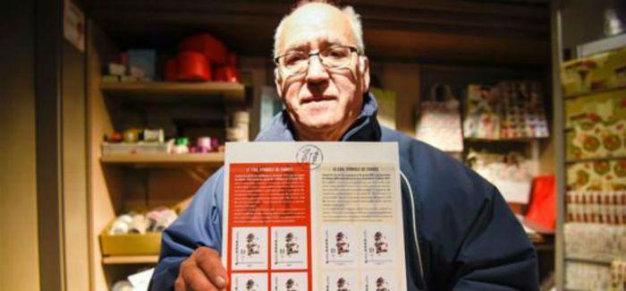 法国邮政局发行十二生肖及鸡年纪念邮票