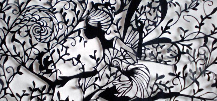 剪纸并非民俗艺术 看美国剪影剪纸与日本浮世绘剪纸