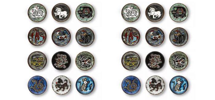 """""""鸡票""""没抢到?来看西泠网拍韩美林的十二生肖瓷盘"""