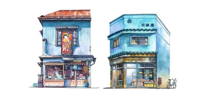 《你的名字》幕后画家 用笔走过一家家东京老店