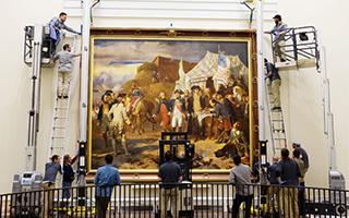 美国革命博物馆展览约克镇围城战役绘画