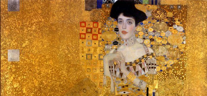 金色背后是历史的厚重感:克里姆特《鲍尔夫人肖像》
