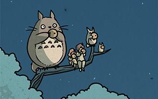 美国插画家让宫崎骏作品和浮世绘相遇了!