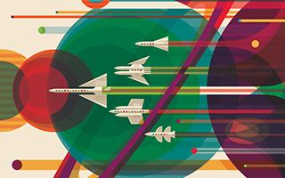 NASA邀请画家创作人类未来星际旅行宣传画