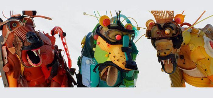 由垃圾制作而成的动物模型