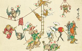 骷髅弹琴 青蛙打架:浮世绘里除了美人还有什么?