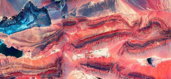 美地质勘探局发布地球卫星图 美似油画绚烂无比