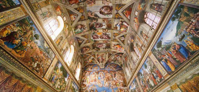西斯廷教堂穹顶壁画摄影图像将呈现前所未有的细节