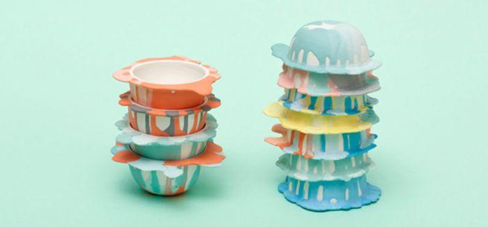 彷彿出水芙蓉 调出童年色彩的液状碗盘