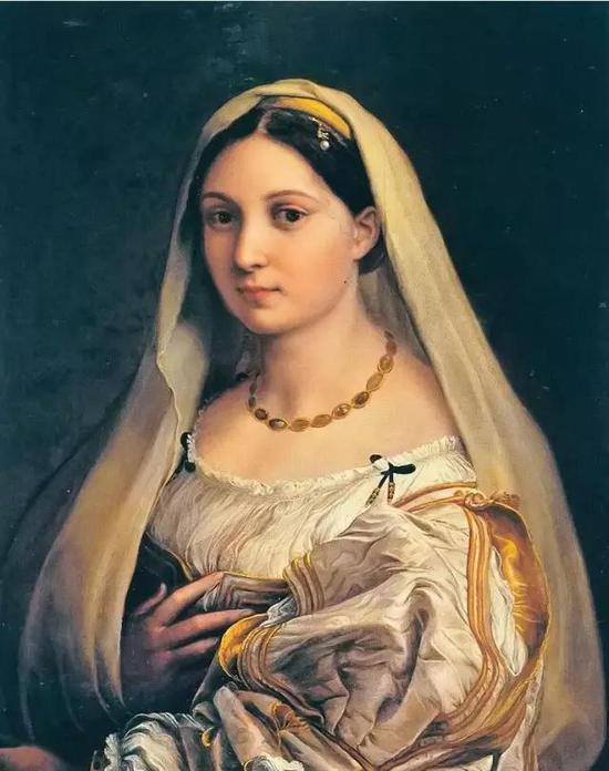 拉斐尔《披纱的女子》