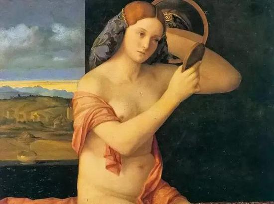贝利尼《裸女照镜》