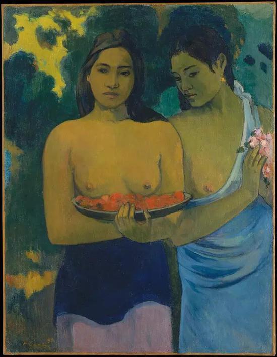 高更《两位塔希提妇女》
