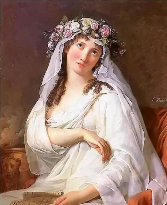 大卫《戴花冠的维斯塔贞女》