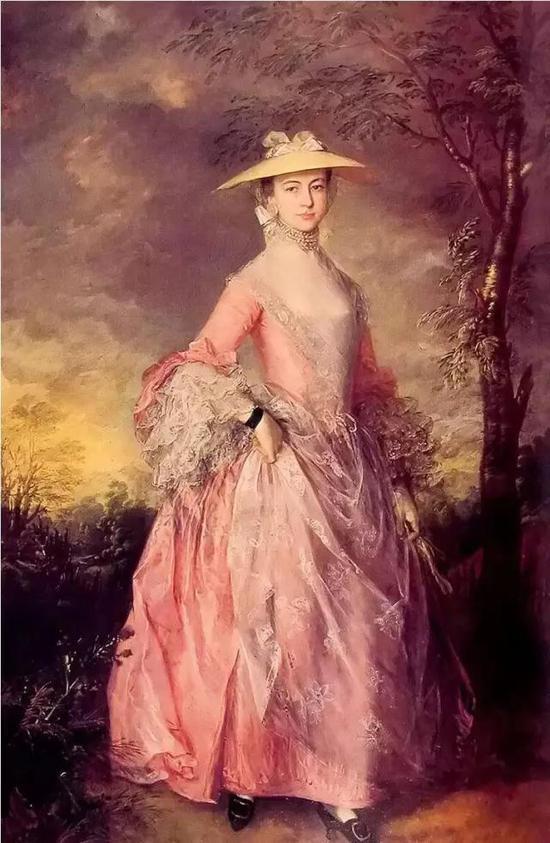 庚斯博罗《 玛丽,霍维伯爵夫人》