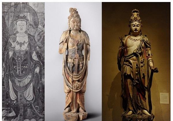 大型寺庙壁画木雕