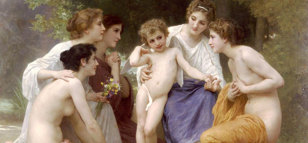 油画中的神韵女子