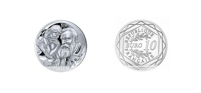 法国发行雕塑家罗丹逝世100周年纪念银币