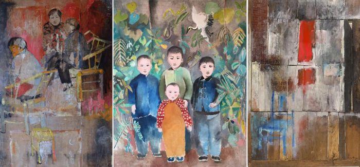 一个法国女艺术家在中国画了好些年旧门板