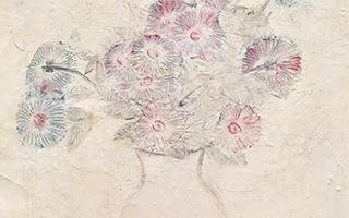 常玉粉红时期关键代表作《白瓶粉红菊》